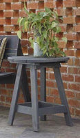 Uwharrie Chair Round Side Table #1041 shown in charcoal and made in the USA