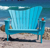 Uwharrie Chair Wave Collection Adirondack Settee #7051