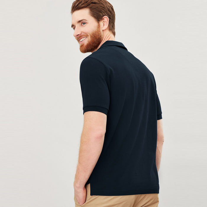 NK P.Q Short Sleeve Polo Shirt For Men-Navy-SP3420
