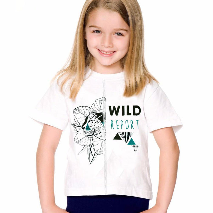 Orchestra Short Sleeve Tee Shirt For Girls-White-NA11743