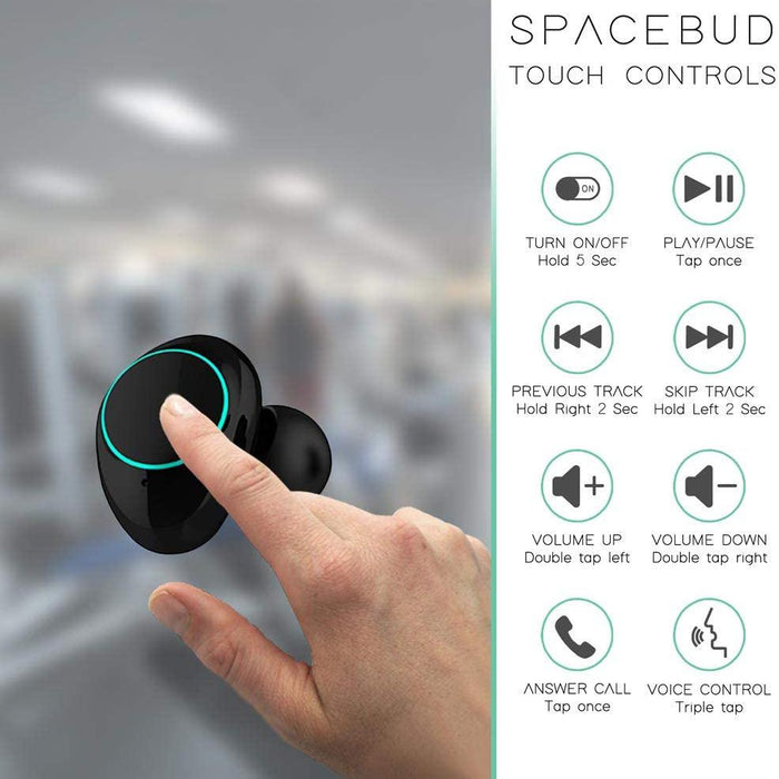 Minko Truly Wireless Listening Spacebuds-Eclipse Black-SP4693