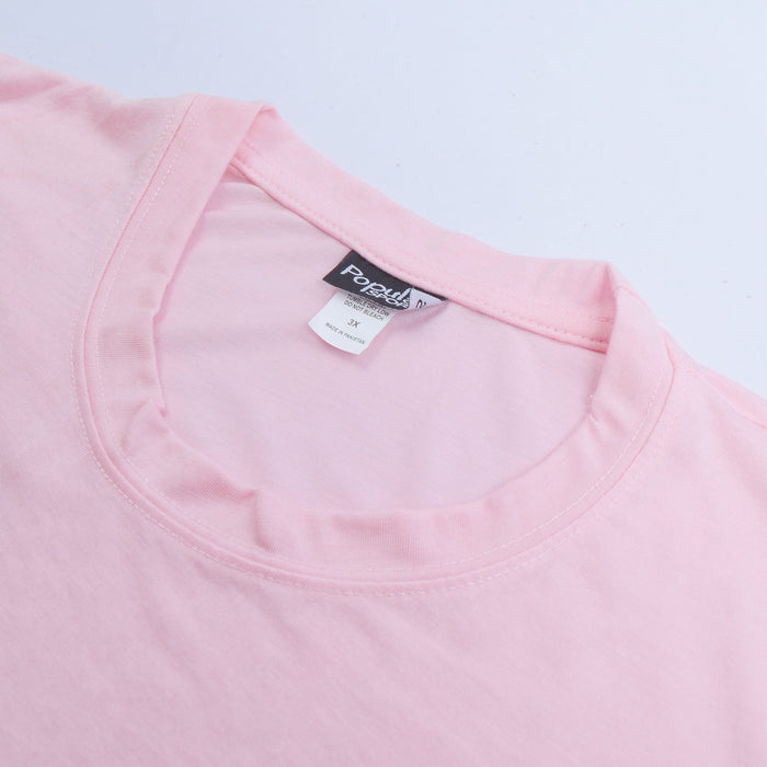 brandsego - Popular Sports Half Sleeve Crew Neck Viscous Blouse For Women-Pink-NA9616