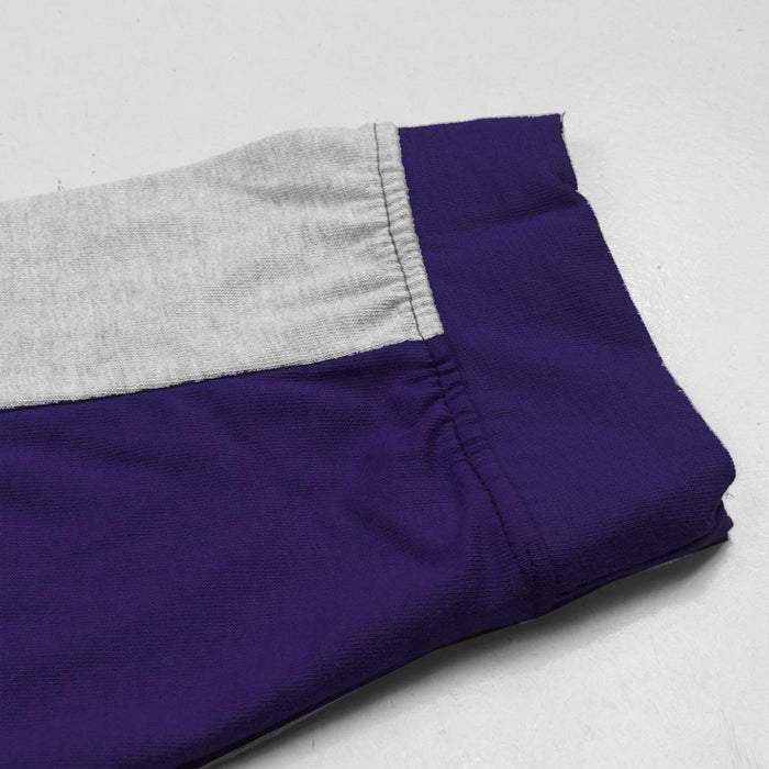 Summer Slim Fit Panel Trouser For Men-Medium Purple & Grey Stripe-NA11954
