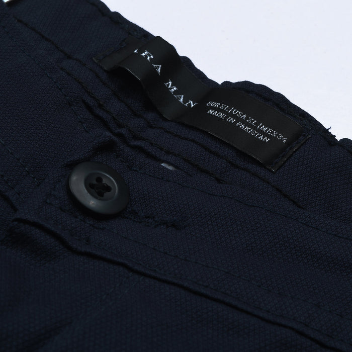 ZM Premium Slim Fit Chino For Men-Dark Navy With Pattern-NA11737
