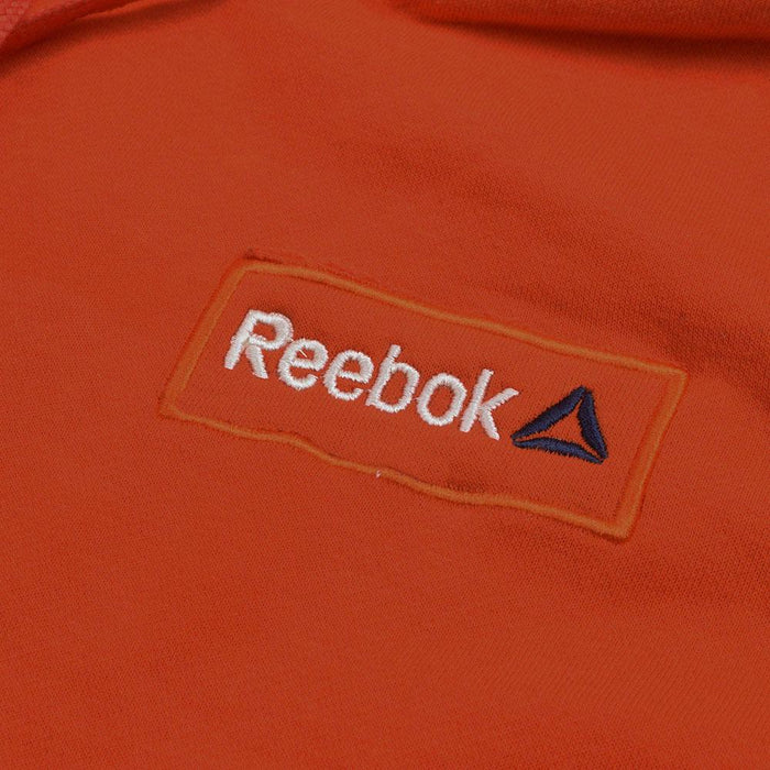 Reebok Fleece Pullover Hoodie For Men-Orange With White Embroidery-NA12501