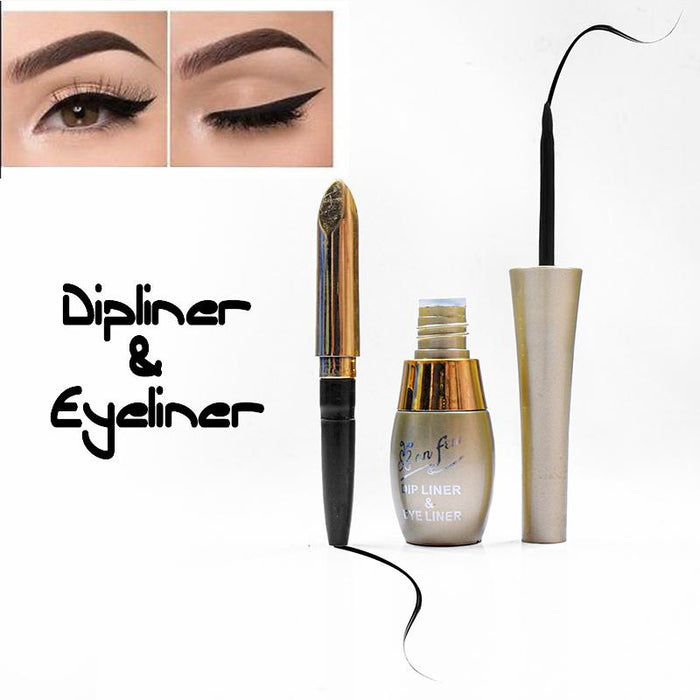 2 In 1 Anfen Dip Liner Eye Liner Black-NA11358
