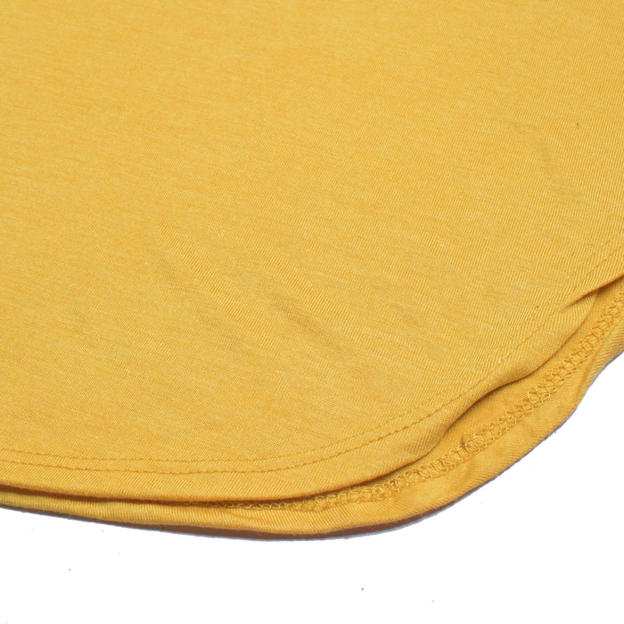 Sports Half Sleeve Viscous Tee Shirt For Women-Yellow-NA11142