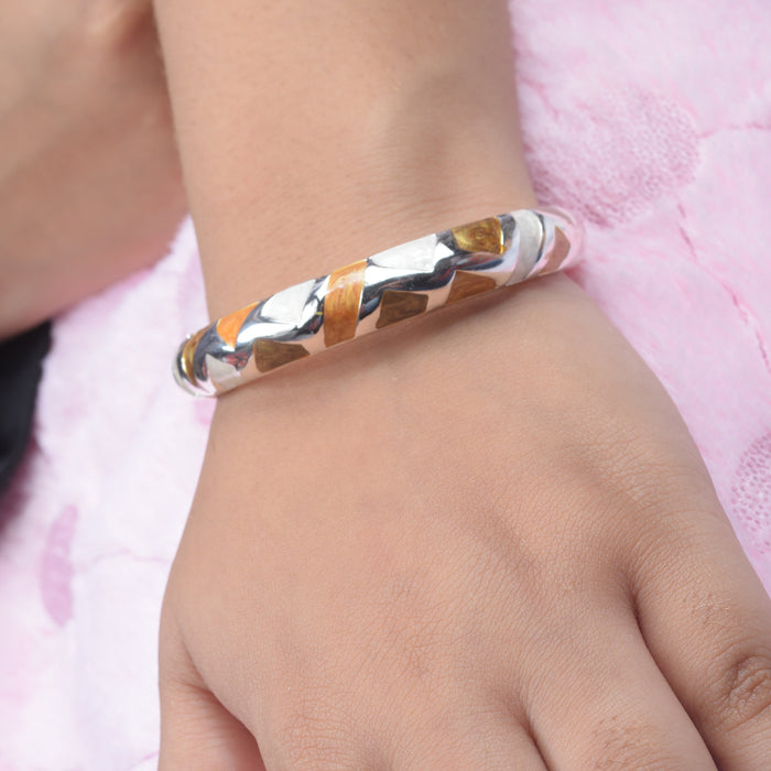 Ladies Full Stylish Mettel Multi Color Hand Bracelets-SP2540