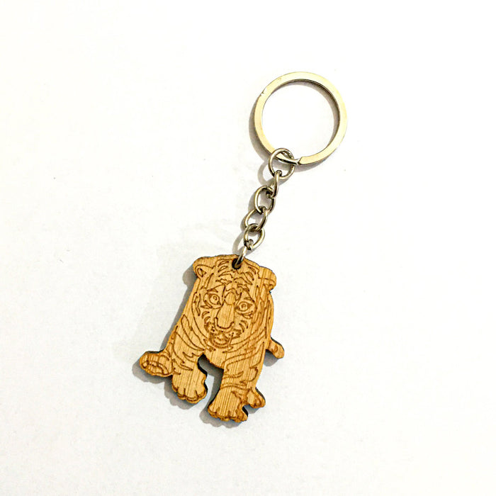 Wooden Key Chain-Assorted-NA11380