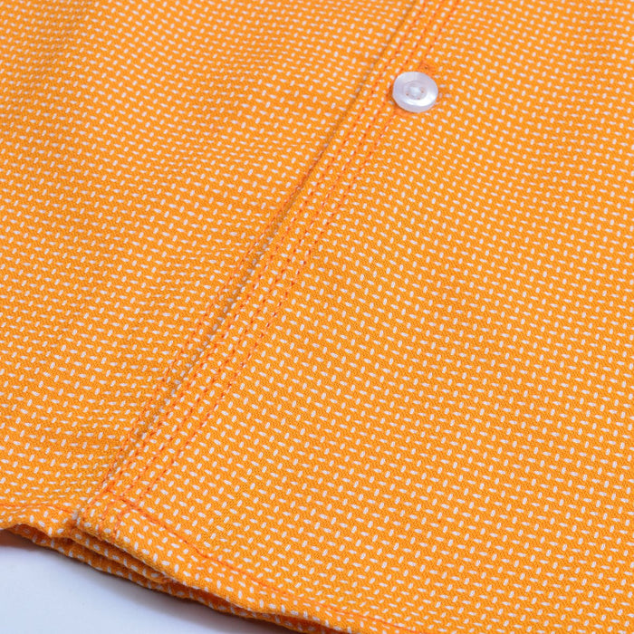 Premium Slim Fit Casual Shirt For Men-Coral Yellow-RCS82