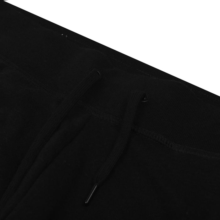 NK Terry Fleece Straight Fit Trouser For Ladies-Black With White Embroidery-SP4257