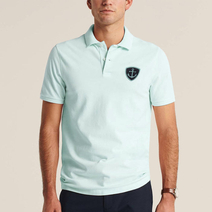 Express Stylish Summer Polo Shirt For Men-Light Mint Blue-BE11409