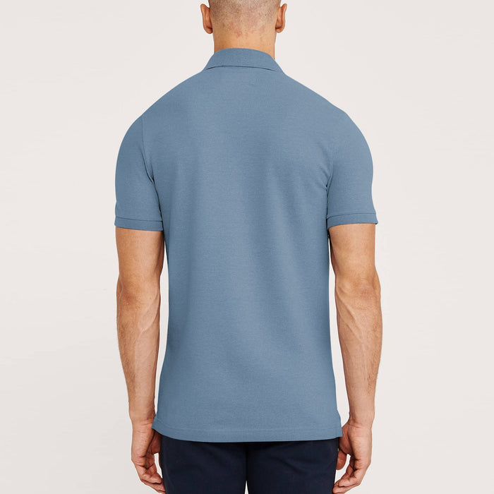 Express Stylish Summer Polo Shirt For Men-Slate Blue-BE11426
