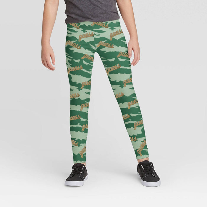 Stylish Legging For Girls-Camouflage & Guess Allover Print-BE12344