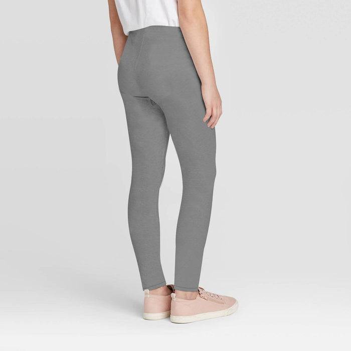 Stylish Legging For Girls-Dark Grey Melange-BE12343