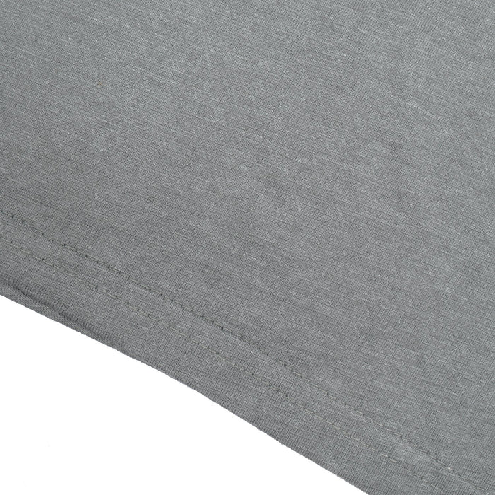 Single Jersey Crew Neck Tee Shirt-Slate Grey Melange-BE14191