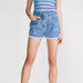 brandsego - Kylie Denim Grinding Short For Girls-Dirty Wash-BE7093