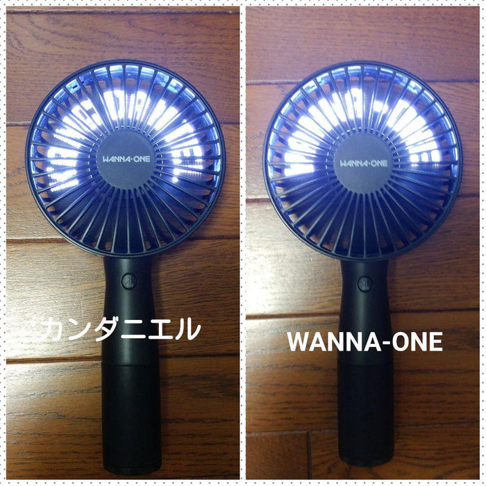Wanna One Official Rechargeable Led Electric Hand Fan-NA11350