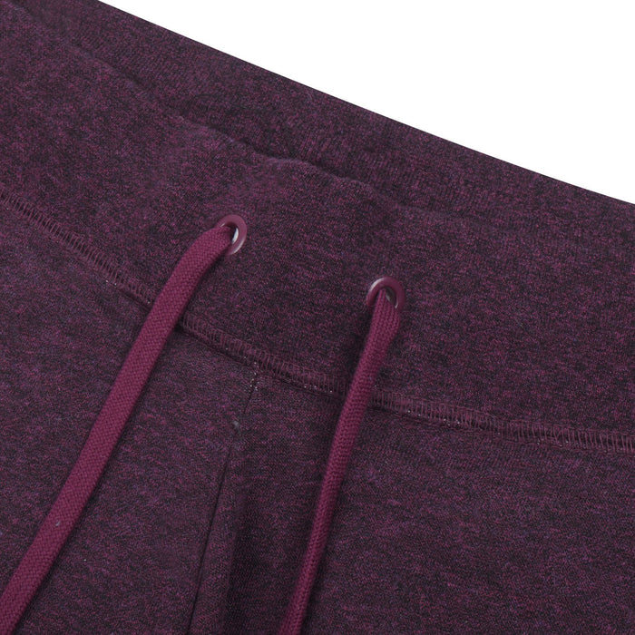 Fleece Gathering Fit Pant Style Jogging Trouser For Men-Indigo Melange with White Embroidery-BE12943