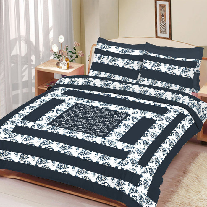 Premium Quality Cotton Sutton Double Bed Sheet & Pillow Set-BE13313