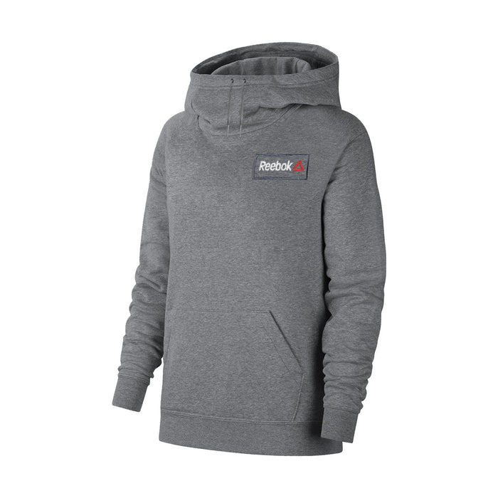 Reebok Fleece Pullover Hoodie For Men-Charcoal Melange With White Embroidery-BE13606
