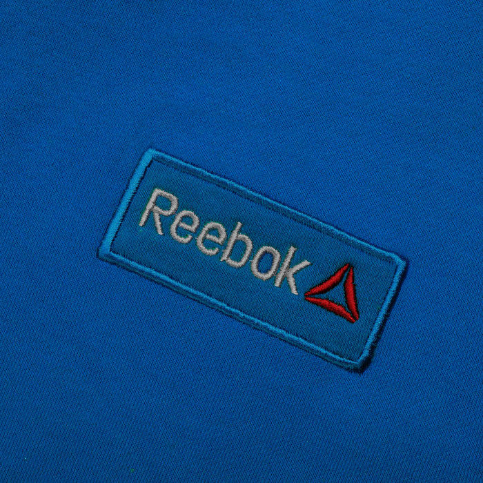 Reebok Fleece Pullover Hoodie For Men-Blue With White Embroidery-NA12539