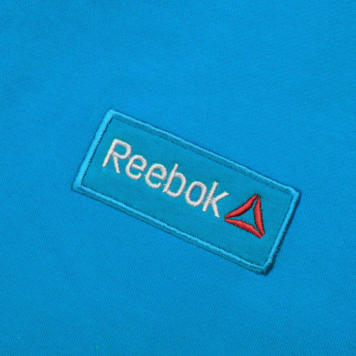 Reebok Fleece Pullover Hoodie For Men-Dark Cyan with White Embroidery-BE13189