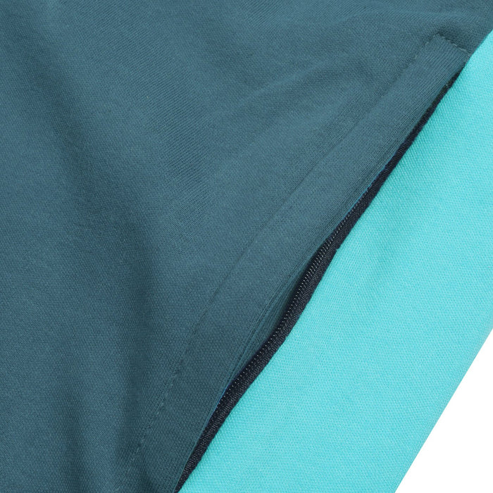 Both Seasons Regular Fit Trouser For Men-Light Prussian with Light Cyan Stripe-BE12738