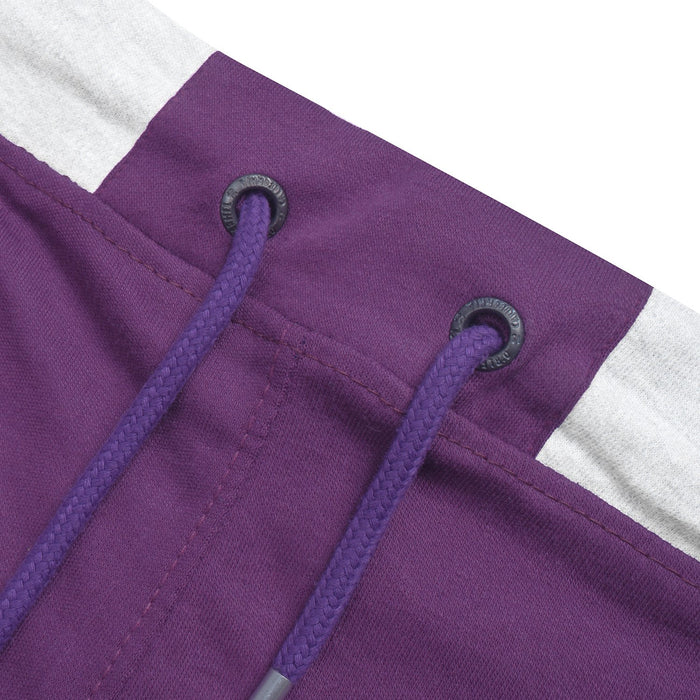 TH Both Seasons Regular Fit Trouser For Men-Purple with Grey Melange Stripe-BE12688
