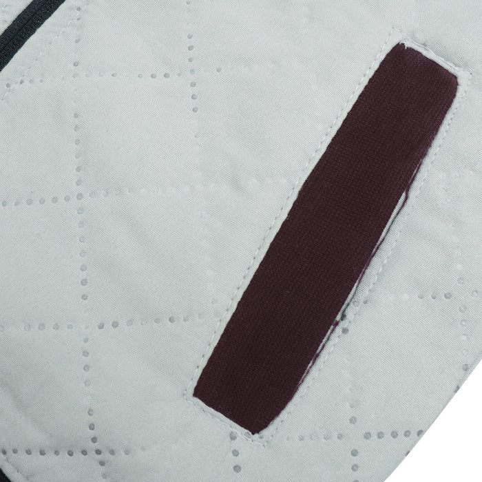 Quilted Zipper Baseball Jacket For Kids-Slate Grey & Maroon-BE13240