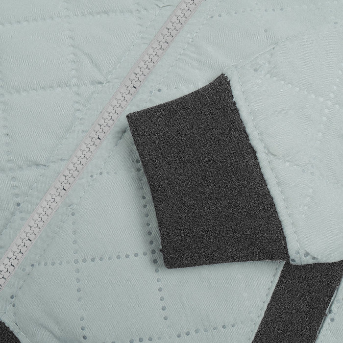 Quilted Zipper Baseball Jacket For Kids-Smoke Grey & Charcoal Melange-BE13235