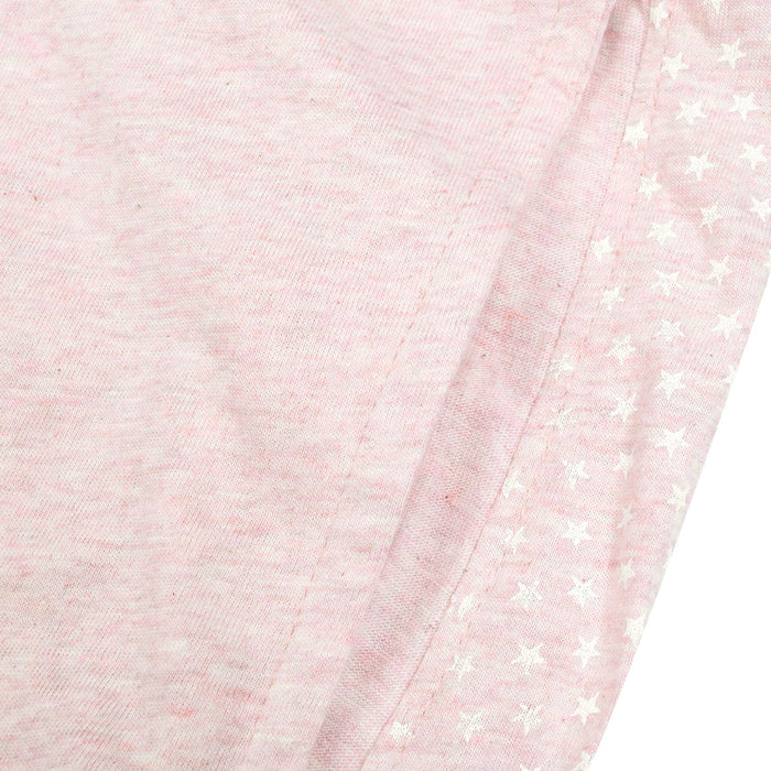 Uneek Single Jersey Jogger Trouser For Men-Light Pink Melange With Stars Panel-BE10184