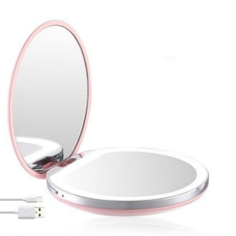 Miroir Grossissant Lumineux x3 Voyage Rose
