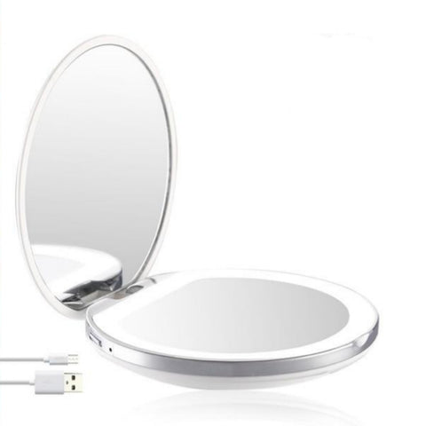Miroir Grossissant Lumineux x3 Voyage Blanc