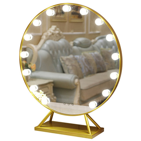 Miroir Hollywood <br> Rond Luxueux