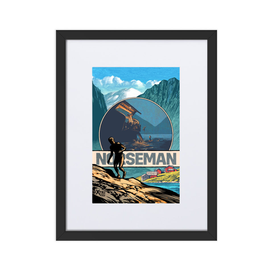 NORSEMAN Framed Poster with backing board