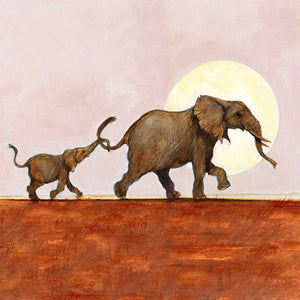 A007 Elephant Mother and Baby