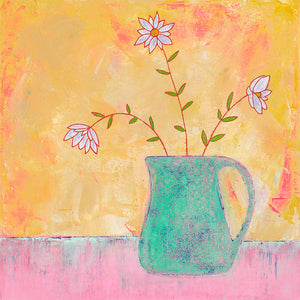AC013 Marguerites in a Green Jug