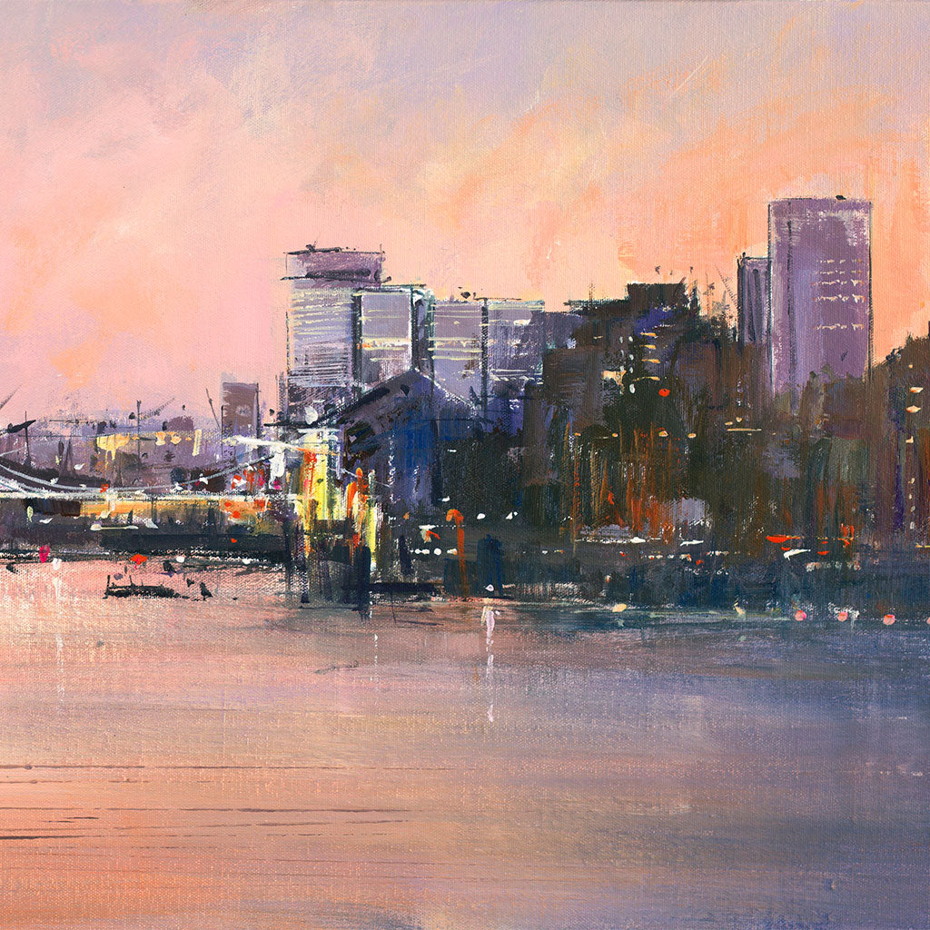 LM015 Evening Cityscape