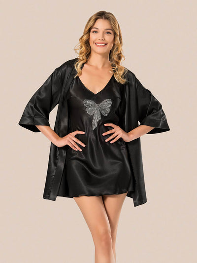 Mg-051 Gown Set - Sleep wear - Flourish Nightwear & Undergarments