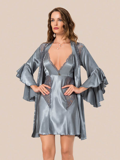 Mg-063 Gown Set - Sleep wear - Flourish Nightwear & Undergarments