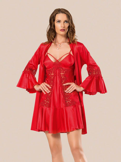Mg-067 Gown Set - Sleep wear - Flourish Nightwear & Undergarments