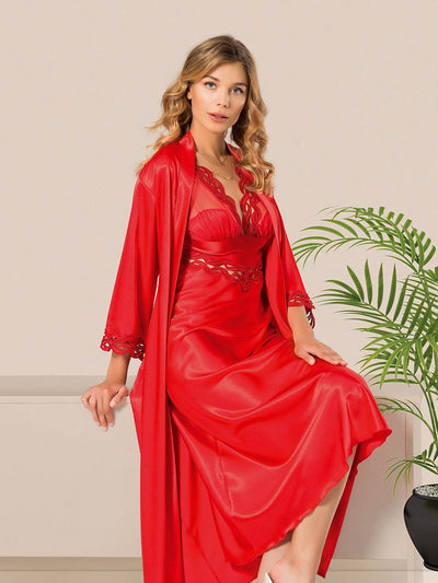 Mg-082 Gown Set - Sleep wear - Flourish Nightwear & Undergarments