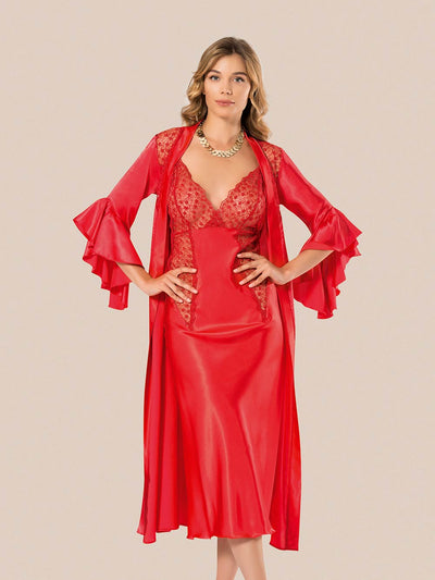 Mg-087 Gown Set - Sleep wear - Flourish Nightwear & Undergarments