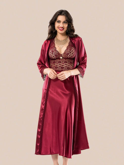 Mg-1124 Gown Set - Sleep wear - Flourish Nightwear & Undergarments