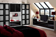 High gloss bedroom wardrobe in Dulux colour