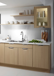 Scoop style kitchen with a wood finish