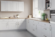 Light grey kitchen with shaker style cupboard doors