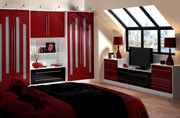 Modern, red made to measure wardrobe