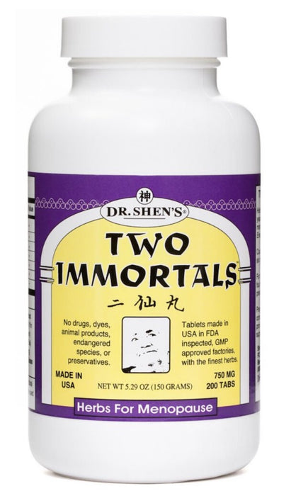 bottle of Dr. Shen's Two Immortals pills